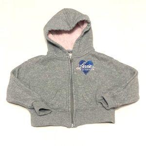 LEVI'S Zip-up Sweatshirt Hoodie Grey